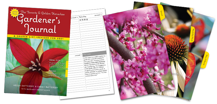A visual sample of the contents for the Toronto and Golden Horseshoe Gardener's Journal